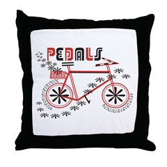 Pedals Cyclist Throw Pillow