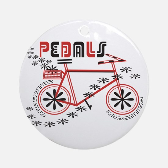 Pedals Cyclist Ornament (Round)