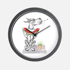 Great Dane Spit! Melon HARLE Wall Clock