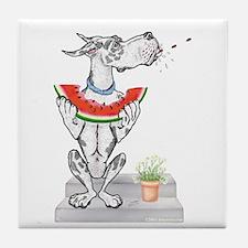 Great Dane Spit! Melon HARLE Tile Coaster