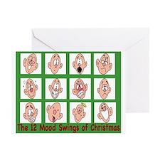 12 mood swings of Christmas Greeting Cards (Pk of