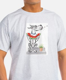 Great Dane Spit! Melon HARLE Ash Grey T-Shirt