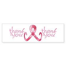 Pink Thank You Bumper Sticker