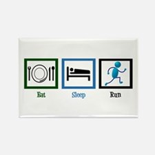 Eat Sleep Run Rectangle Magnet