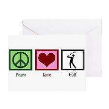 Peace Love Golf Greeting Card