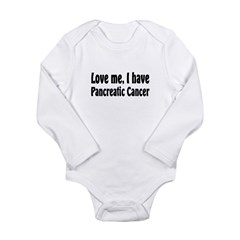 Pancreatic Cancer Long Sleeve Infant Bodysuit