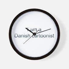 I am a Danish cartoonist Wall Clock