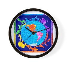 Peaceful Animal Kingdom Wall Clock