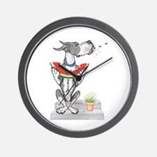 Great Dane Spit! Melon MANTLE Wall Clock
