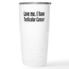 Testicular Cancer Stainless Steel Travel Mug