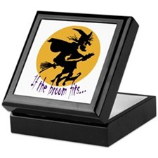 """If the broom fits"" flying wi Keepsake Box"