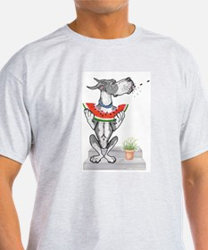 Great Dane Spit! Melon MANTLE Ash Grey T-Shirt