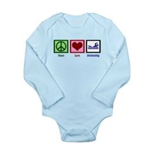 Peace Love Swimming Long Sleeve Infant Bodysuit