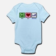 Peace Love Swimming Infant Bodysuit