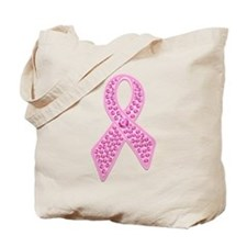 Pink Ribbon Jewels Tote Bag