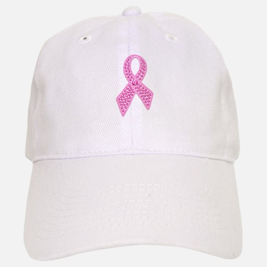 Pink Ribbon Jewels Baseball Baseball Cap