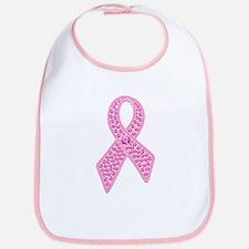 Pink Ribbon Jewels Bib