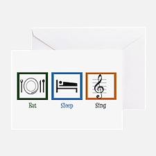 Eat Sleep Sing Greeting Card