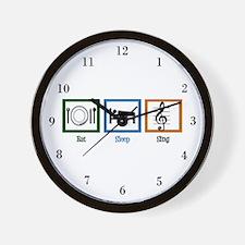 Eat Sleep Sing Wall Clock