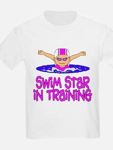Swim Star in Training Madison Kids T-Shirt