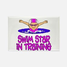 Swim Star in Training Madison Rectangle Magnet