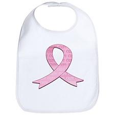 Pink Ribbon Cure Bib
