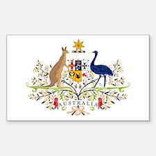 Australian Coat of Arms Rectangle Decal
