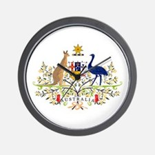 Australian Coat of Arms Wall Clock