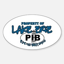 Property of Lake Erie (PIB) Sticker (Oval)