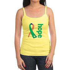 Hope Thyroid Cancer Ribbon Jr.Spaghetti Strap