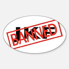 Banned JKF Sticker (Oval)