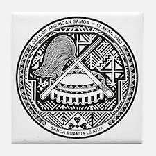 American Samoa Coat of Arms Tile Coaster