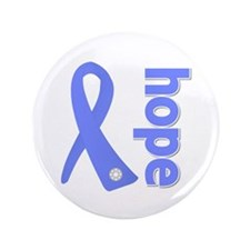 "Hope Ribbon Stomach Cancer 3.5"" Button (100 pack)"