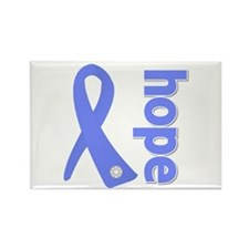 Hope Ribbon Stomach Cancer Rectangle Magnet (100 p