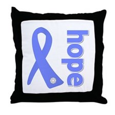 Hope Ribbon Stomach Cancer Throw Pillow