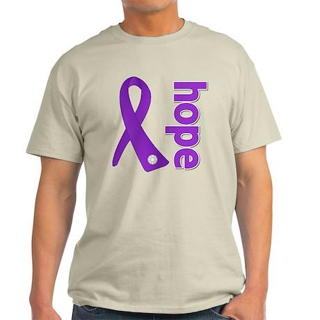 Hope Ribbon Pancreatic Cancer Light T-Shirt