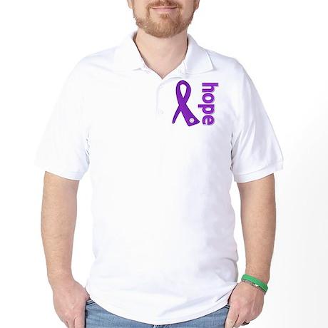 Hope Ribbon Pancreatic Cancer Golf Shirt