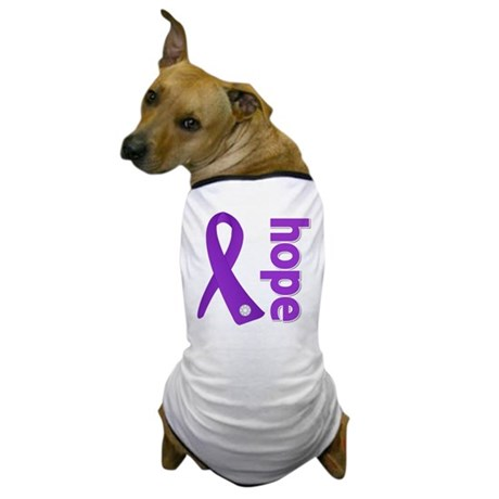 Hope Ribbon Pancreatic Cancer Dog T-Shirt