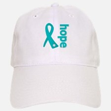 Hope Ribbon Ovarian Cancer Baseball Baseball Cap
