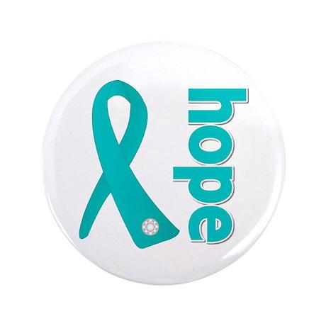 "Hope Ribbon Ovarian Cancer 3.5"" Button"