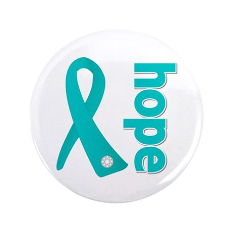 """Hope Ribbon Ovarian Cancer 3.5"""" Button (100 pack)"""