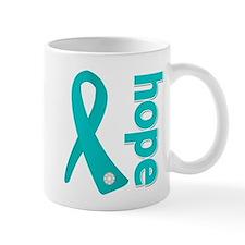 Hope Ribbon Ovarian Cancer Mug