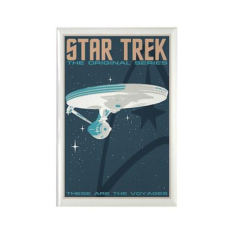 Retro Star Trek: TOS Poster Rectangle Magnet (100