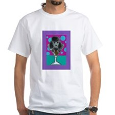 Black Poodle Martini Shirt
