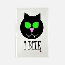 Cute All black cat Rectangle Magnet