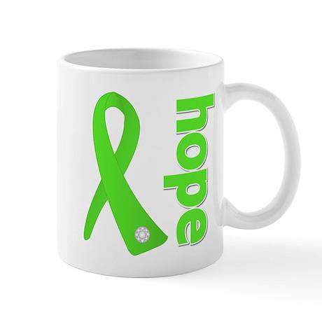 Hope Lime Green Ribbon Mug