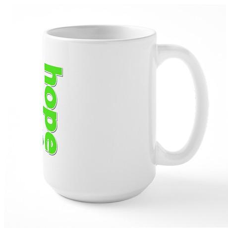 Hope Lime Green Ribbon Large Mug