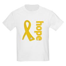 Gold Hope Ribbon T-Shirt