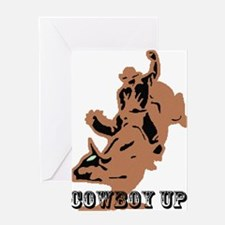 cowboy up Greeting Card