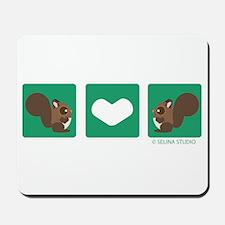 """""""Squirrel + Squirrel"""" Mousepad"""